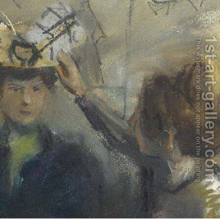 Hoedenatelier (detail) by Isaac Israels - Reproduction Oil Painting