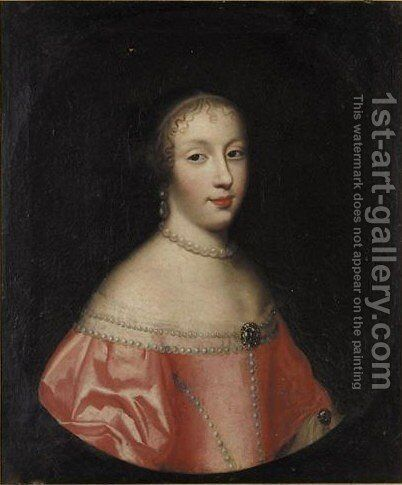Portrait Of A Lady by (after) Honthorst, Gerrit van - Reproduction Oil Painting