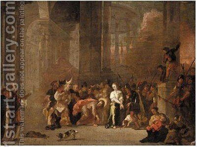 Christ And The Woman Taken In Adultery by Abraham Danielsz Hondius - Reproduction Oil Painting