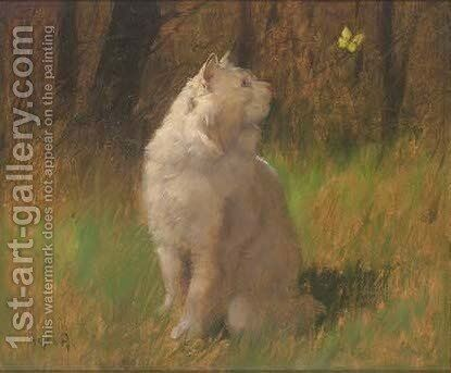 A watchful eye by Arthur Heyer - Reproduction Oil Painting