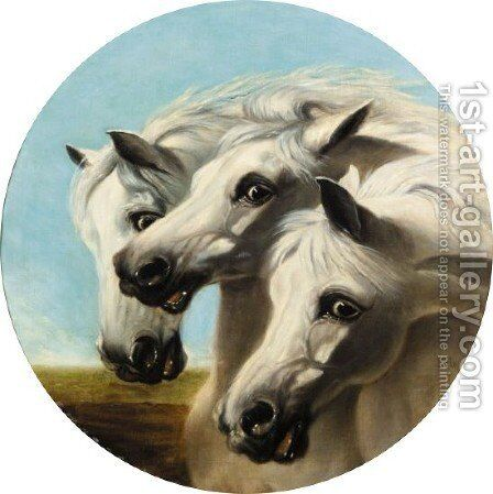 Pharaoh's Horses 2 by (after) Herring Snr, John Frederick - Reproduction Oil Painting