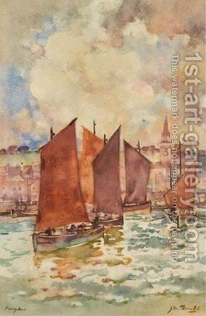Leaving Harbour by James Watterston Herald - Reproduction Oil Painting