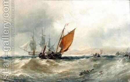 Ship On The Goodwin Sands by Edwin Hayes - Reproduction Oil Painting