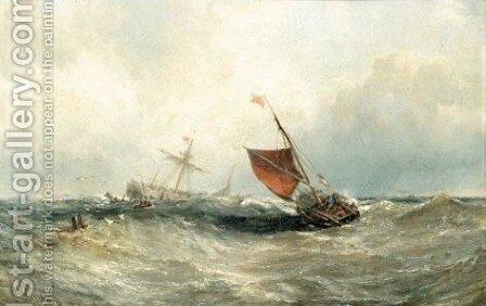 Yarmouth Lugger, Dublin Bay by Edwin Hayes - Reproduction Oil Painting