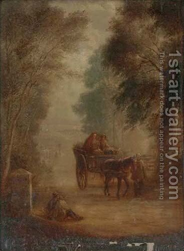 The market cart by (after) Gainsborough, Thomas - Reproduction Oil Painting