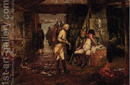The parley of an emissary and Napoleon after the Battle of Austerlitz by Henry Hetherington Emmerson - Reproduction Oil Painting
