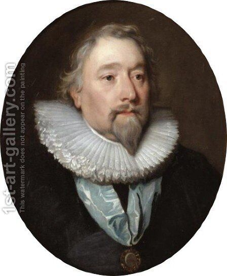 Portrait Of Richard Weston, Earl Of Portland (1577-1635) by (after) Dyck, Sir Anthony van - Reproduction Oil Painting