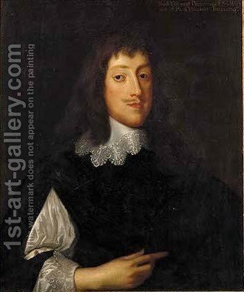Portrait of Paul Viscount Bayning (1616-1638) by (after) Dyck, Sir Anthony van - Reproduction Oil Painting