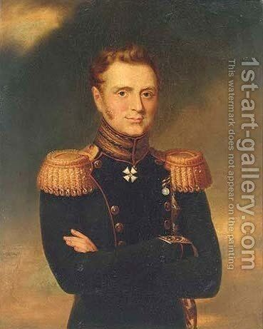 Portrait of Grand Duke Mikhail Pavlovich by (after) Dawe, George - Reproduction Oil Painting