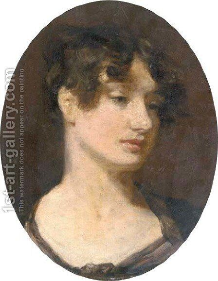 Portrait of George Gardner's wife, Harriet Han by (after) Constable, John - Reproduction Oil Painting