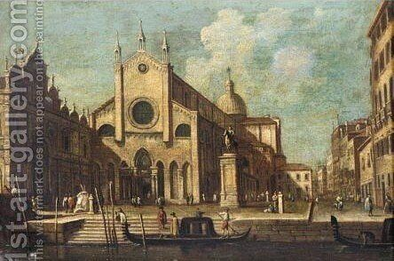 Venice, A View Of Ss Giovanni E Paolo by (after) (Giovanni Antonio Canal) Canaletto - Reproduction Oil Painting