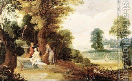 Susanna and the Elders by (after) Adriaen Van Stalbemt - Reproduction Oil Painting
