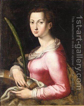 Saint Catherine Of Alexandria by (after) Agnolo Bronzino - Reproduction Oil Painting