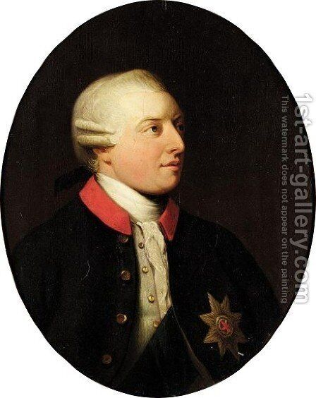 Portrait Of George III by (after) Allan Ramsay - Reproduction Oil Painting