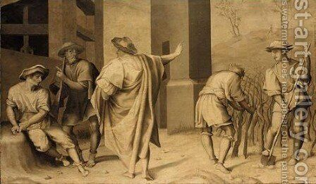 The Parable Of The Vineyard The Calling Of The Workers by (after) Andrea Del Sarto - Reproduction Oil Painting