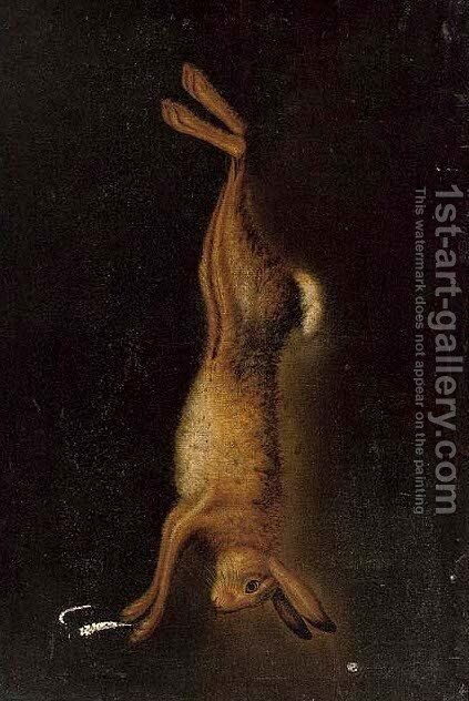 A hanging hare by (after) Benjamin Blake - Reproduction Oil Painting