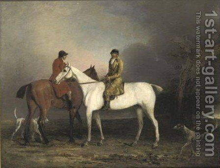 Thomas Oldacker Out Hunting 2 by (after) Benjamin Marshall - Reproduction Oil Painting