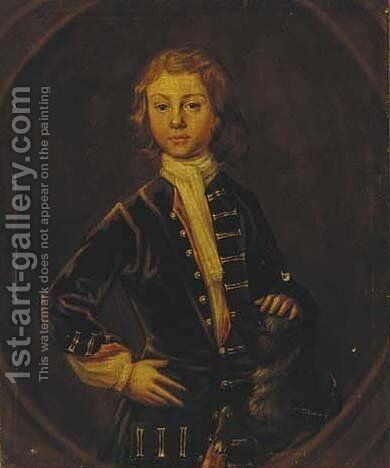 Portrait of a young boy by (after) Charles D' Agar - Reproduction Oil Painting