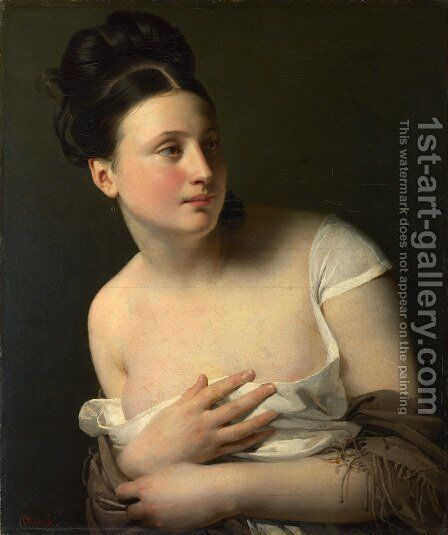 The surprise by (after) Claude-Marie Dubufe - Reproduction Oil Painting