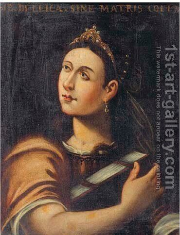 Sybil 3 by (after) Cristofano Allori - Reproduction Oil Painting