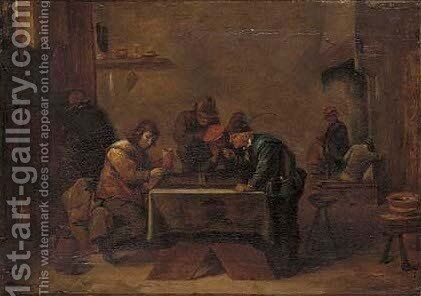 The tric trac players by (after) David The Younger Teniers - Reproduction Oil Painting