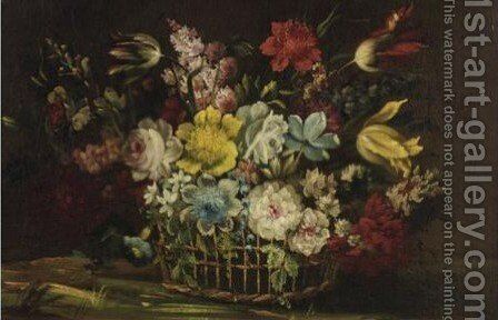 Still Life With Flowers by (after) Dei Fiori (Nuzzi) Mari - Reproduction Oil Painting