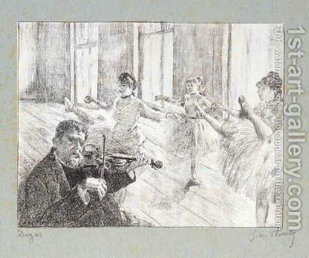 Repetition by (after) Edgar Degas - Reproduction Oil Painting