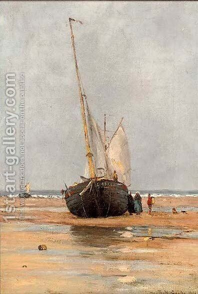Waiting for the tide by (after) Edward William Cooke - Reproduction Oil Painting