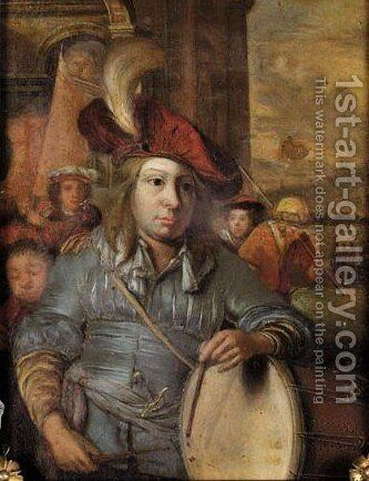 A Drummer Boy by (after) Eglon Van Der Neer - Reproduction Oil Painting