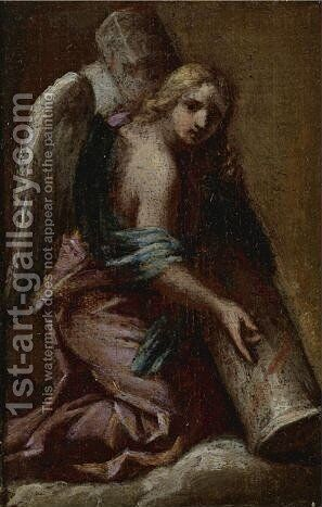 Angel Holding The Column by (after) Francesco Trevisani - Reproduction Oil Painting
