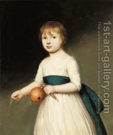 Portrait of a young girl by (after) Francis Alleyne - Reproduction Oil Painting