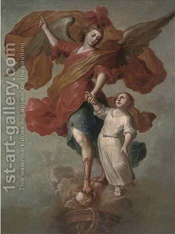 Tobias and the Angel by (after) Francisco Menseses Osorio - Reproduction Oil Painting