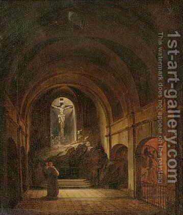 Divine contemplation by (after) Francois Marius Granet - Reproduction Oil Painting