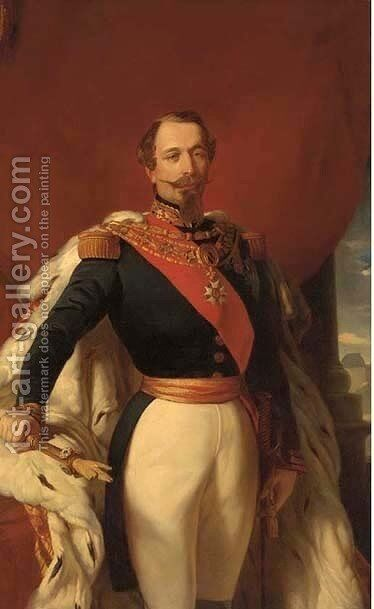 Portrait of Napoleon III (1808-1873 by (after) Franz Xaver Winterhalter - Reproduction Oil Painting