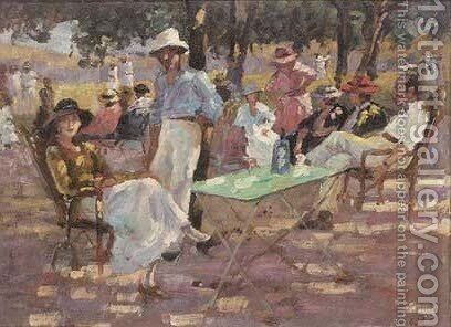 Relaxing at the cricket match by (after) Frederic Whiting - Reproduction Oil Painting