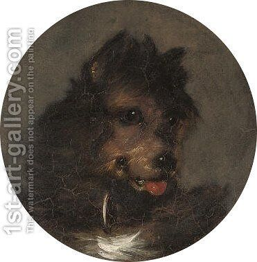 A young terrier by (after) George Armfield - Reproduction Oil Painting