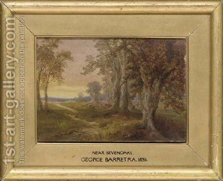 Near Sevenoaks by (after) George Barret - Reproduction Oil Painting