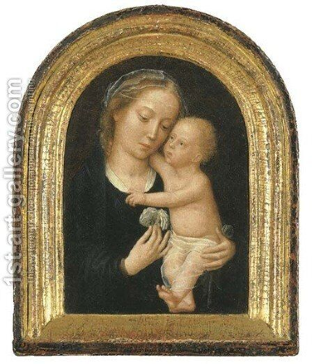 The Virgin and Child 4 by (after) Gerard David - Reproduction Oil Painting