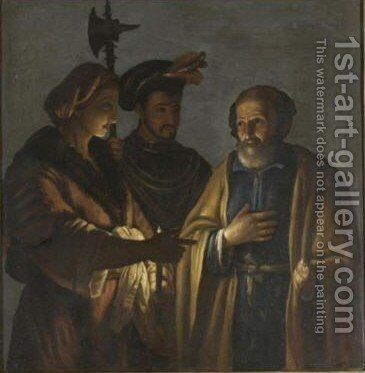 The Denial Of Saint Peter 2 by (after) Gerard Seghers - Reproduction Oil Painting