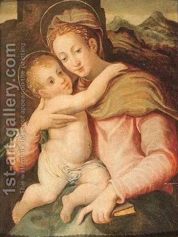 The Madonna and Child by (after) Giorgio Vasari - Reproduction Oil Painting