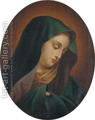 The Virgin by (after) Giovanni Battiata Salvi, Il Sassoferrato - Reproduction Oil Painting
