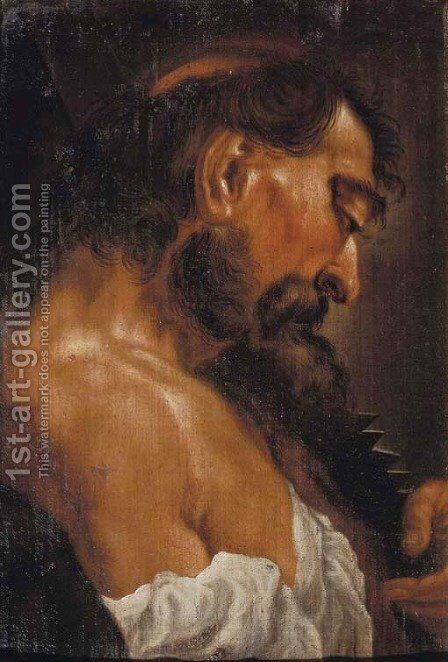 Saint Simon Zelotes by (after) Giovanni Battista Piazzetta - Reproduction Oil Painting