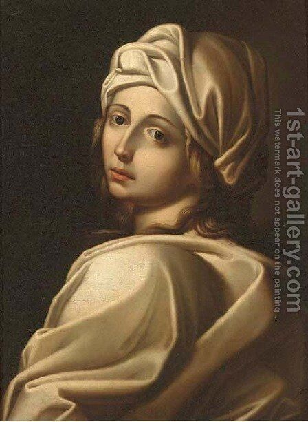 Portrait of Beatrice Cenci 4 by (after) Guido Reni - Reproduction Oil Painting