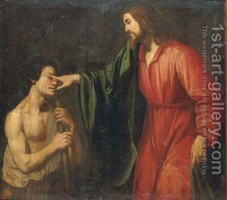 Christ healing the Blind Man by (after) Gysbert Van De Kuyl - Reproduction Oil Painting