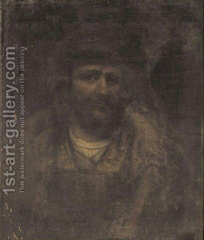 Portrait Of The Artist by (after) Harmenszoon Van Rijn Rembrandt - Reproduction Oil Painting
