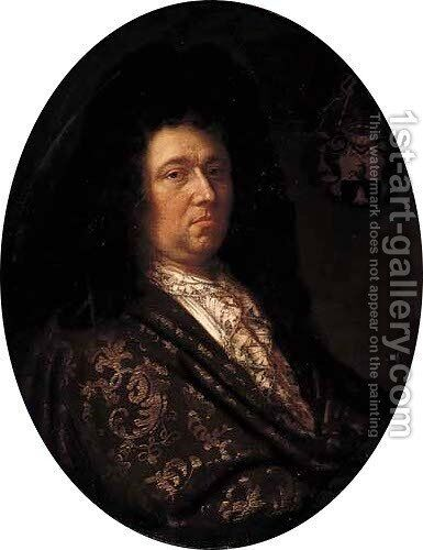 Portrait of a nobleman by (after) Hyacinthe Rigaud - Reproduction Oil Painting