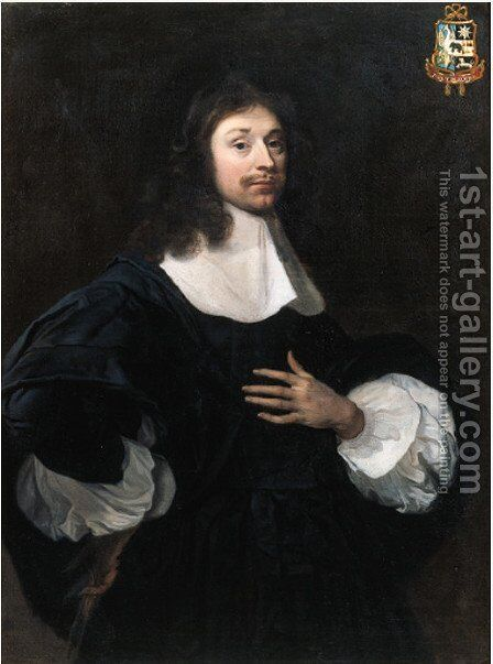 Portrait of Joan Huydecoper (1625-1704) by (after) Jacob Van Loo - Reproduction Oil Painting