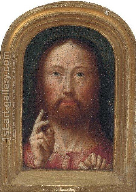 Salvator Mundi by (after) Jan (Mabuse) Gossaert - Reproduction Oil Painting