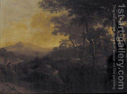 Figures On Horseback On A Country Path by (after) Jan Both - Reproduction Oil Painting