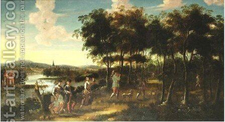 Peasants Returning From The Field by (after) Jan Siberechts - Reproduction Oil Painting